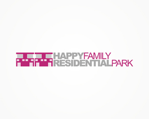 Happy Happy Family Residential Park, happy, family, residential park, Bucharest, homes, living, residential, park, logo, logos, logo design by Alex Tass