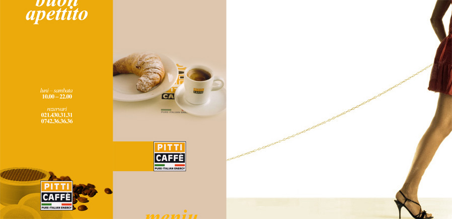 Pitti Caffe menu - covers and their back sides