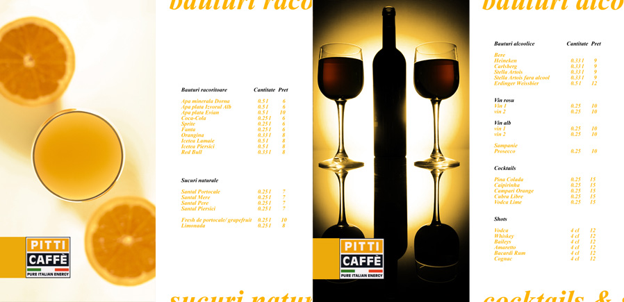 pPitti Caffe menu - pages