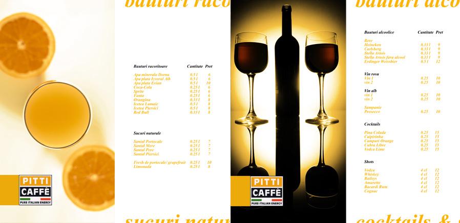 pPitti Caffe menu - pages