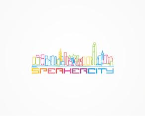 Speakercity, Hong Kong, electronic music, electronic, music, parties, events, organizer, logo, logos, logo design by Alex Tass