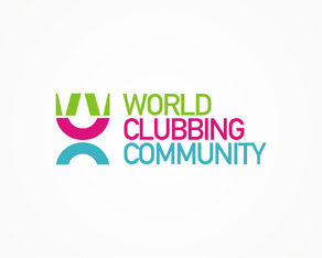 World Clubbing Community, world, clubbing, community, online, forum, parties, clubs, venues, events, logo, logos, logo design by Alex Tass