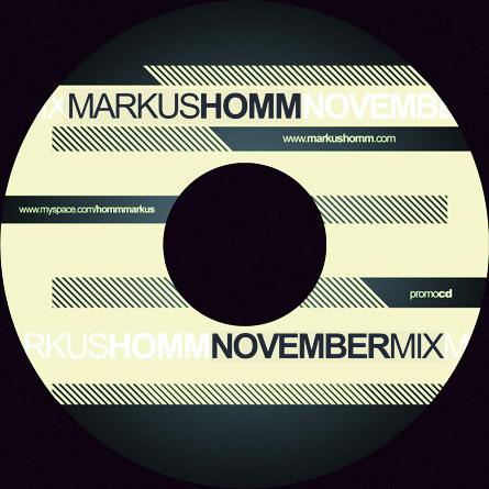 markus homm - promotional mix cd - november 2007
