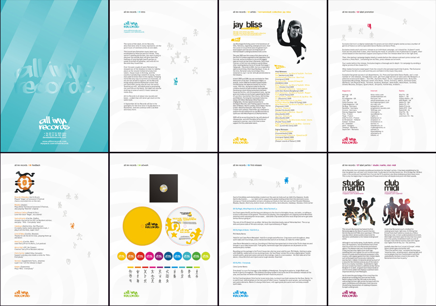 all inn records label identity & promo materials design - nocturn, Powerpoint templates