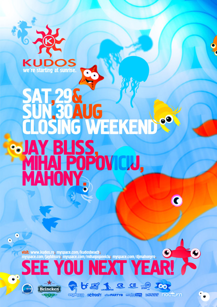 kudos beach closing party - 29-30 august flyer - jay bliss, mihai popoviciu (proposal)