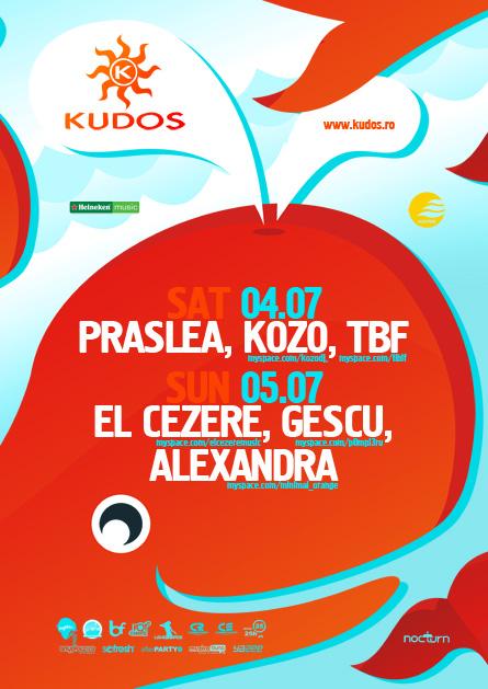 kudos beach flyer - 04-05 iulie - praslea, kozo, tbf, el cezere, gescu, alexandra