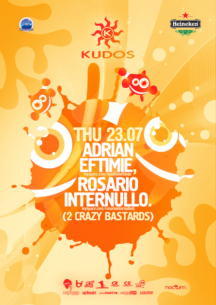 kudos beach poster - adrian eftimie, rosario internullo (2 crazy bastards)