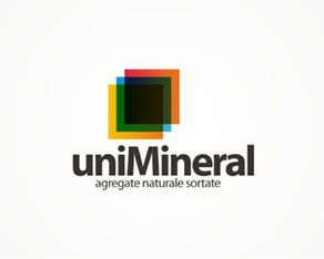 UNI Mineral, stone processing industry, minerals, stone, logo, logos, logo design by Alex Tass