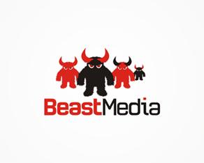Beast Media, online, full service, media, advertising agency, logo, logos, logo design by Alex Tass