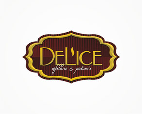 Delice, pastry, cakes, candy, candy shop, sweets, sweets shop, logo, logos, logo design by Alex Tass