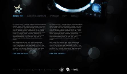 djsuperstar website layout