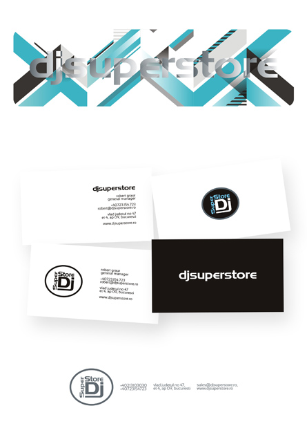 djsuperstore - letterhead & business cards