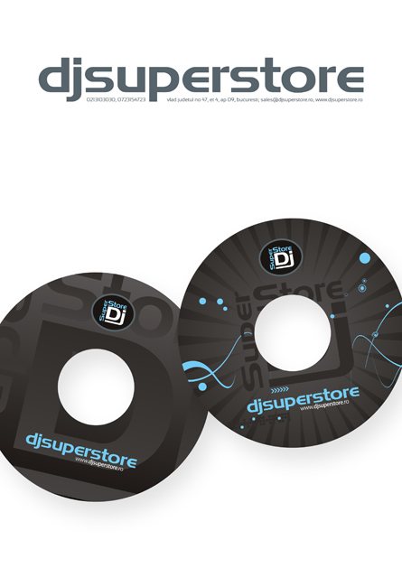 djsuperstore - letterhead & cd