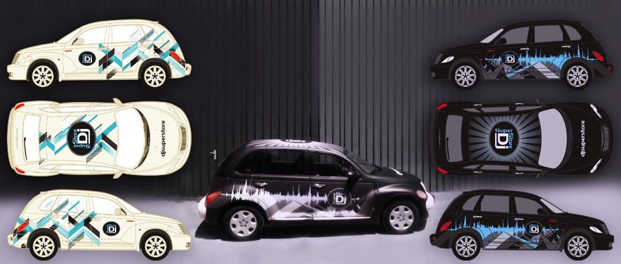 djsuperstore - car branding
