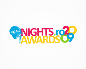 nights.ro, Romanian, clubbing, electronic music, industry, 2009, awards, logo, logos, logo design by Alex Tass