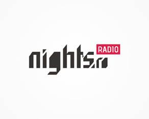 nights.ro, electronic music, website, portal, online radio, radio shows, radio, logo, logos, logo design by Alex Tass