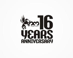 Studio Martin, clubbing, electronic, music, club, venue, 16 years, anniversary, logo, logos, logo design by Alex Tass