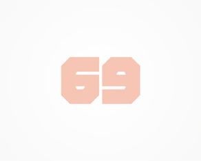 69 (sixty-nine), concept, abstract, experimental, design work, logo design, available for sale, logo, logos, logo design by Alex Tass