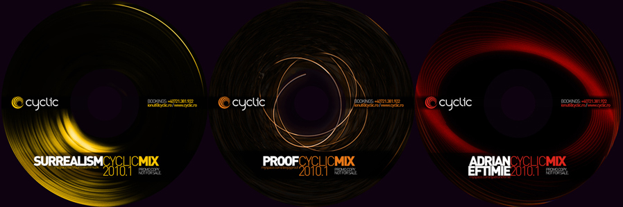 cyclic bookings - promo mixes cds - surrealism, proof, adrian eftimie