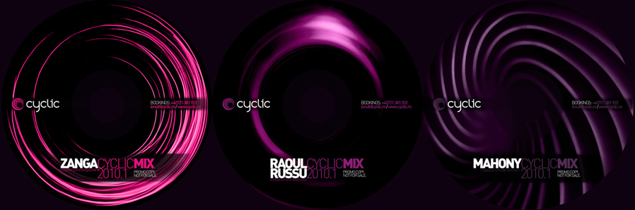 cyclic bookings - promo mixes cds - zanga, raoul russu, mahony