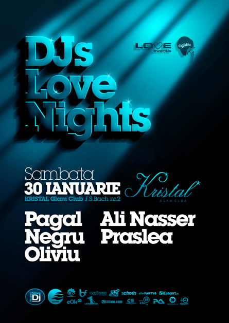 djs love nights - kristal glam club - pagal, negru, oliviu, ali   nasser, praslea