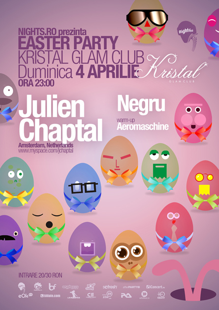 easter party - kristal glam club - julien chaptal, negru