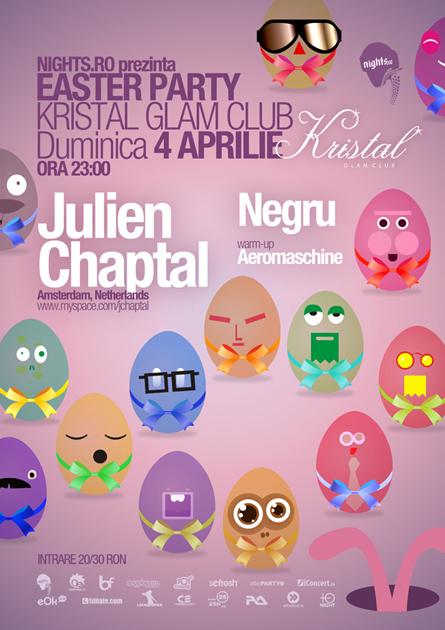 easter party - kristal glam club - julien chaptal, negru