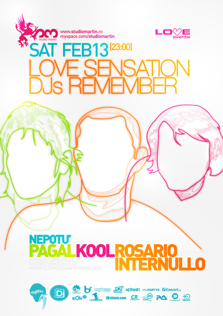 love sensation dj's remember - studio martin - pagal, kool,  rosario internullo