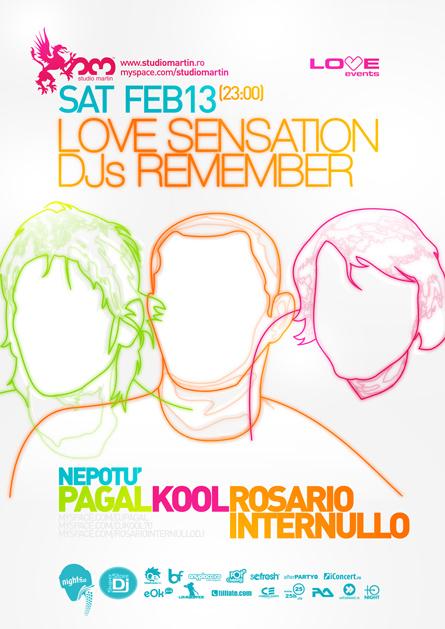 love sensation dj's remember - studio martin - pagal, kool,  rosario internullo