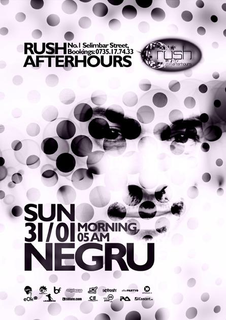 rush afterhours - negru