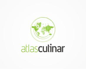 Atlas Culinar – international recipes, menus, meal ideas, food, cooking, a culinary atlas web portal, logo, logos, logo design by Alex Tass