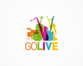 GoLive music shop logo design