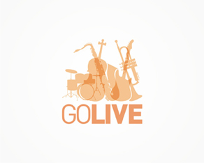 go go live, music instruments, music composing and production tools logo, logos, logo design by Alex Tass