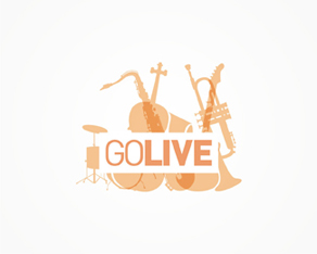 go live, music instruments, music composing and production tools logo, logos, logo design by Alex Tass