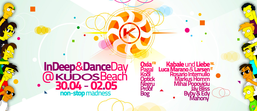 kudos beach - indeep&dance 1st of may 2010 - beach banner