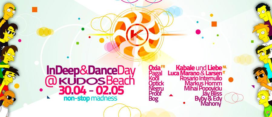 kudos beach - indeep&dance 1st of may 2010 - beach banner