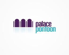 palace pontoon terrace, restaurant, lounge, venue, logo, logos, logo design by Alex Tass