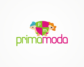 Prima Moda, fashion and clothing for kids, children and youth, logo, logos, logo design by Alex Tass