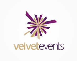 velvet events, weddings and christenings parties and events organizer logo, logos, logo design by Alex Tass