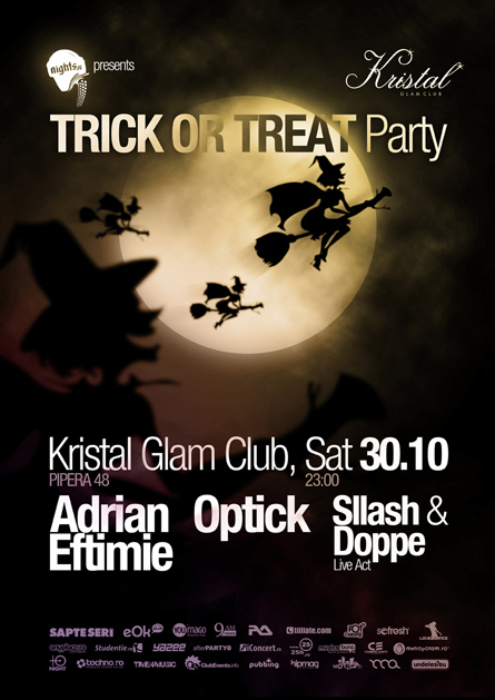 kristal glam club - halloween - adrian eftimie, optick, sllash & doppe