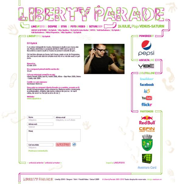 liberty parade 2010 - dj optick