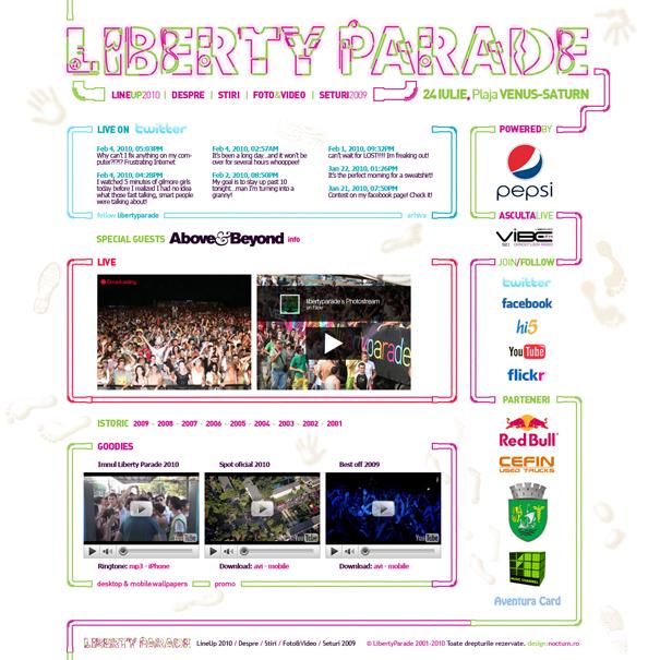 liberty parade 2010 - live