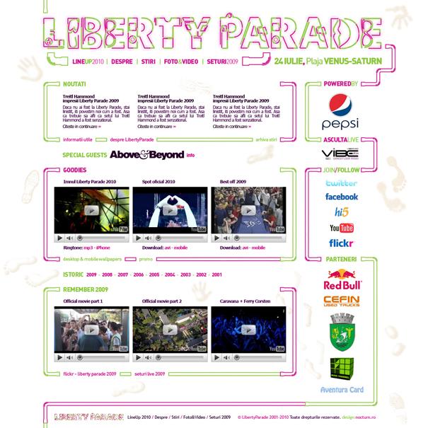 liberty parade 2010 - homepage