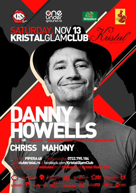 danny howells - flyer and poster - kristal glam club