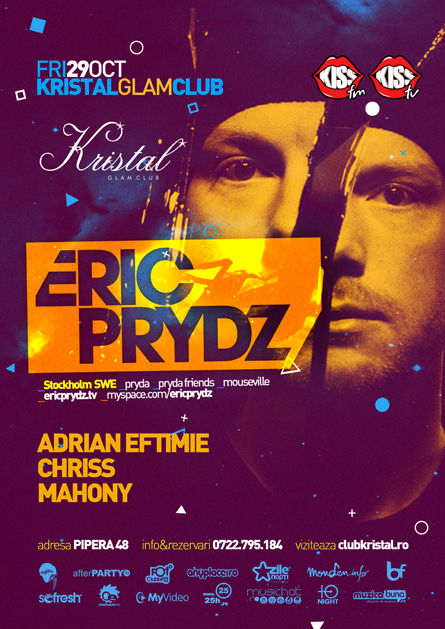 eric prydz - flyer and poster - kristal glam club
