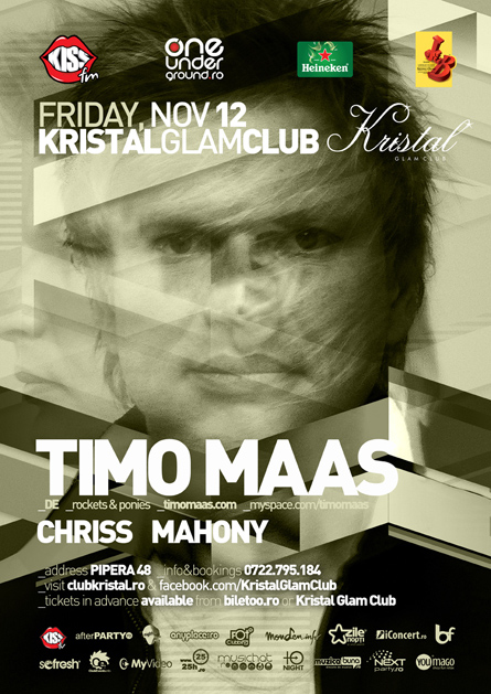 timo maass - flyer and poster - kristal glam club