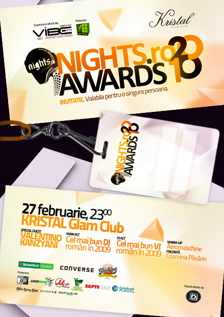nights awards 2010 invitations and press badge