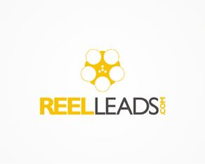 Reel Leads, film, video and production network and company logo, logos, logo design by Alex Tass