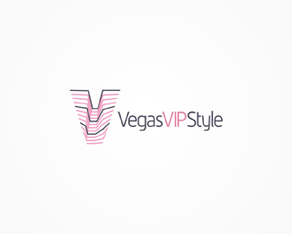 Vegas VIP style, online guide for Las Vegas electronic parties and events logo, logos, logo design by Alex Tass