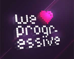 we love progressive, electronic music parties and events series logo, logos, logo design by Alex Tass